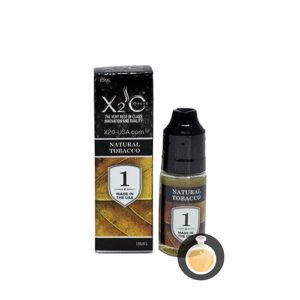 X2O - Natural Tobacco No.1 - Best Vape E Juices & E Liquids Online Store